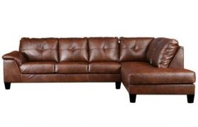 CasaStyle Elizalina 6 Seater RHS L Shape Sofa (Brown)