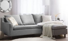 CasaStyle Elvis 4 Seater Interchangeable Sofa (Light Grey)