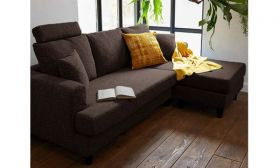 CasaStyle Harisson Four Seater Interchangeable L Shape Sofa (Brown)