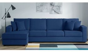 CasaStyle Jason Six Seater LHS L Shape Sofa (Blue)