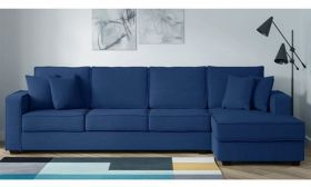 CasaStyle Jason Six Seater RHS L Shape Sofa (Blue)