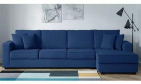 CasaStyle Jason Six Seater RHS L Shape Sofa (Blue)