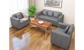 Casastyle - Lexus Five Seater Sofa Set 3-1-1 (Grey)   Deep Seating and Spacious Design I 32 Density Soft & Comfortable   3 Yr. Assurance