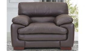CasaStyle Melbourne One Seater Leatherette Sofa (Brown)