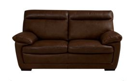 CasaStyle Merlyn Two Seater Leatherette Sofa (Brown)