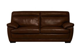 CasaStyle Merlyn Three Seater Leatherette Sofa (Brown)