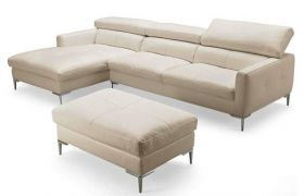 Casastyle Mosco Five Seater L shape LHS Leatherette Sofa (Cream)