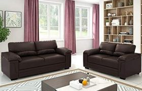 Casastyle - Casban 3+2 Leatherette Sofa Set (Brown)