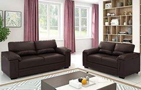 Casastyle - Casban 3+2 Leatherette Sofa Set (Brown)