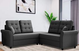 CasaStyle Casteron Corner 5 Seater Sofa Set (Dark Grey)