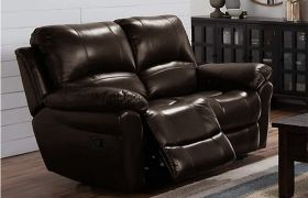 CasaStyle Cobster Two Seater Recliner Sofa in Leatherette (Brown)