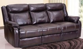 Casastyle Danobe 3 Seater Recliner Sofa with Storage (Brown)