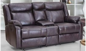 Casastyle Danobe 2 Seater Recliner Sofa with Storage (Brown)