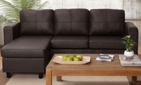 Casastyle Devis 3+1 Ottoman L Shape Leatherette Sofa