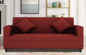 CasaStyle Diana 3 seater Sofa Set For Living Room (Red)