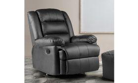 CasaStyle Devino One Seater Recliner Sofa (Black)