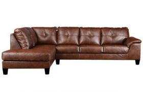 CasaStyle Elizalina 6 Seater LHS L Shape Sofa (Brown)