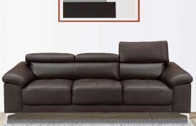 CasaStyle Germon 3 Seater Leatherette Sofa Set (Brown)