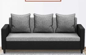 CasaStyle Helocasa 3 Seater Fabric Sofa Set (Brown)