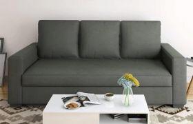 CasaStyle Jamestown 3 Seater Fabric Sofa Set (Dark Grey)