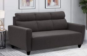 CasaStyle - Kristen 3 Seater Sofa Set For Living Room (Dark Grey)