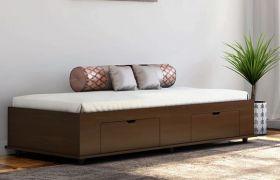 CasaStyle Lojios Engineered Wood Single Size Bed with Box Storage
