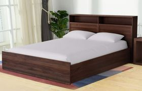 CasaStyle Nysa Engineered Wood Bed with Box Storage