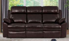 CasaStyle Pluto 3 Seater Recliner Sofa (Brown)