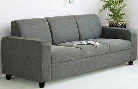 CasaStyle Rio 3 Seater Fabric Sofa Set (Dark Grey)