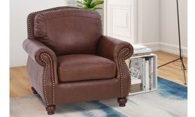 CasaStyle Roman 1 Seater Sofa (Brown)