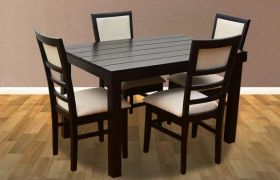CasaStyle Sophiana 4 Seater Dining Table Set