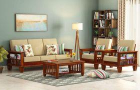 CasaStyle Streyon 3+1+1 Solid wood Sofa Set