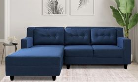 CasaStyle Travia 4 Seater LHS L Shape Sofa Set (Blue)