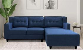 CasaStyle Travia 4 Seater RHS L Shape Sofa Set (Blue)