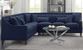 CasaStyle Westin 6 Seater Corner L Shape Sofa Set (Blue)