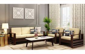 CasaStyle Winloy 3+1+1 Solid wood Sofa Set